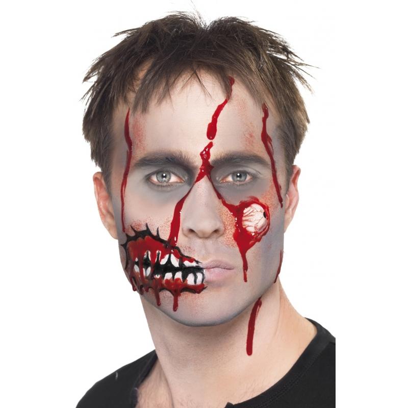 Halloween Zombie Schmink.Zombie Schmink Set Met Litteken In De Piraten Feestwinkel